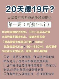 年前快速瘦身20斤的减肥法附详细食谱