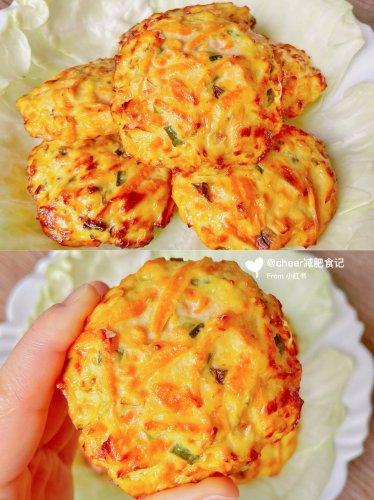减脂餐⑨⑨免油炸超健康低卡红薯鸡肉饼