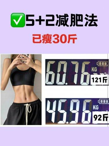 5+2减肥法不运动也能瘦30斤懒人也能瘦