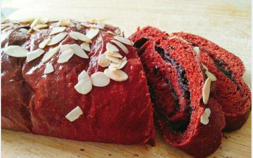 蔓越莓红酒红丝绒面包~雷哲F01蒸烤箱
