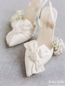 2021新款缎面蝴蝶结婚鞋,征服你的少女心