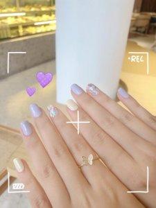 软乎乎的香芋紫美甲打卡杭州宝藏美容院