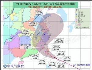 台风尼伯特新消息路径 预防超强台风工作
