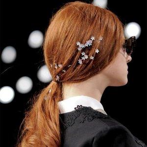 美丽头饰图片 头饰最新款发夹图片 好看的蝴蝶结发饰图片