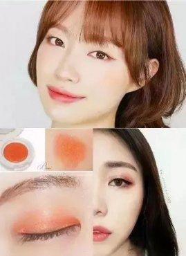 橘色眼妆画法步骤 四款大眼橘色眼妆教学