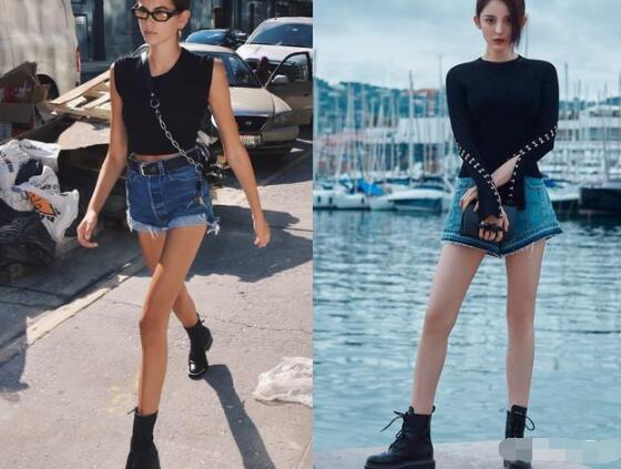 牛仔短裤因为裤长短到大腿中部或者根部 牛仔短裤配什么鞋子好看?