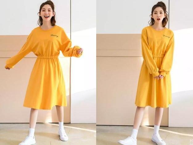 已经到了我们都喜欢的春季了 今年流行的黄色连衣裙款式