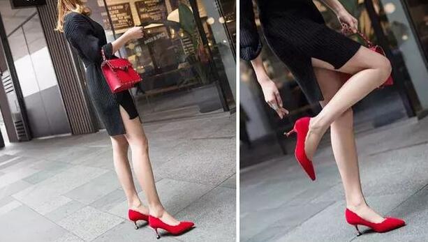 红色给人的感觉有点奔放 红色高跟鞋配什么衣服好看?