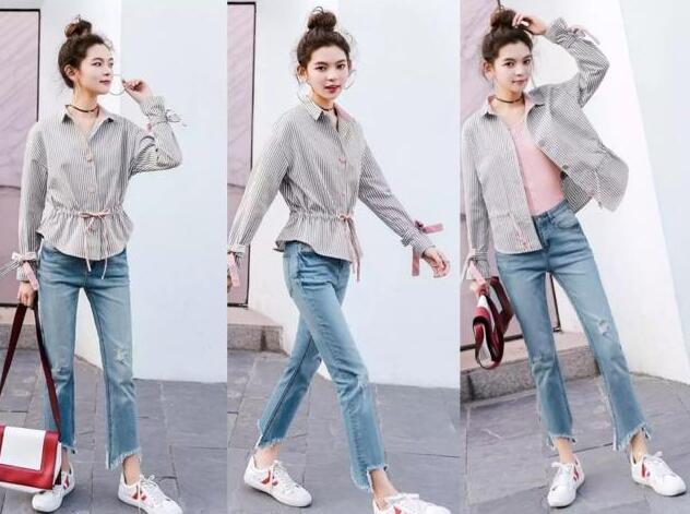 过了寒冷的冬天 牛仔裤搭配什么短外套?