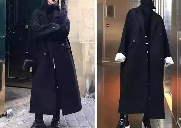 最近的天气真的是越来越冷了 黑色大衣配配什么鞋子好看?