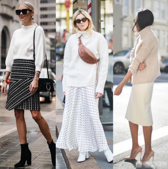 白色毛衣���算是女生衣�坏幕��A�纹妨� 白色高�I毛衣怎么搭配好看?