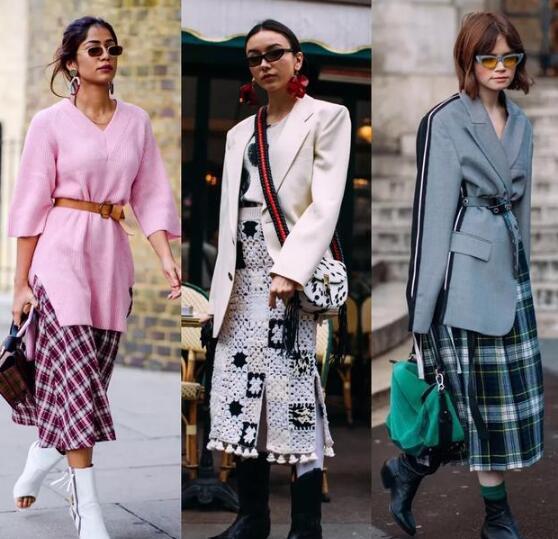 比起连衣裙来 2021流行的半身裙秋冬