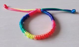 五彩绳编织方法 五彩绳手链编织步骤