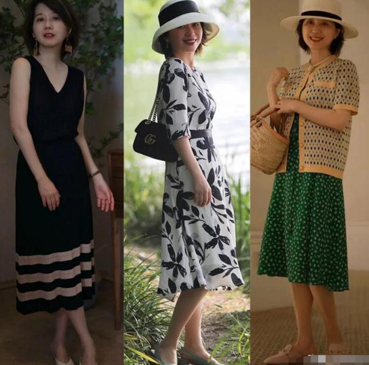 很多女性随着年龄的增长 微胖中年女性穿衣搭配图片